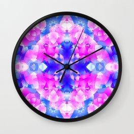 Crystal Flowers Mandala Wall Clock