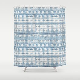 Rustic Indigo Shower Curtain