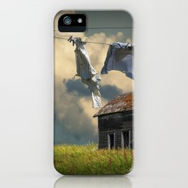 Wash on the Line iPhone Case