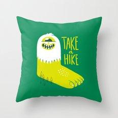 Advice Bigfoot Throw Pillow