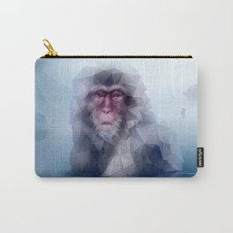 Macaque (Low Poly Ice Snow Monkey) Carry-All Pouch