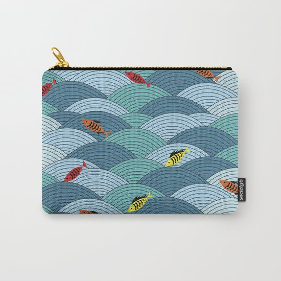 wave and fish Carry-All Pouch