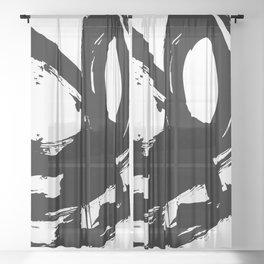 Brushstrokes No.11 by Kathy Morton Stanion Sheer Curtain