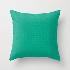 Tribal in teal green Throw Pillow