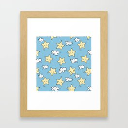 Lovely Star Pattern Framed Art Print