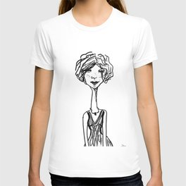 Klara in black & white T-shirt