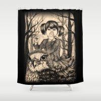 fairy tale Shower Curtains featuring Fairy tale by Paula Duta