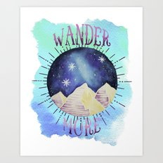 Wander More - Boho Wanderlust Outdoor Watercolor Art Print