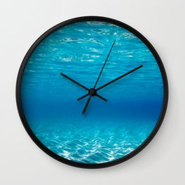 Aqua Blue Bliss Wall Clock