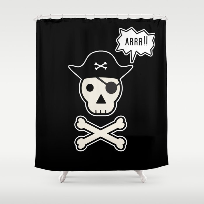 Skul Face Pirate Shower Curtain