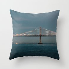Bay Bridge (75th Anniversary) Throw Pillow
