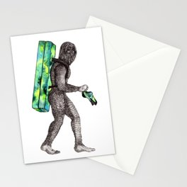 Bouldering Yeti Stationery Cards