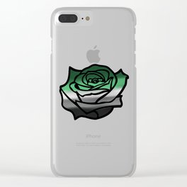 Aromantic Rose Clear iPhone Case
