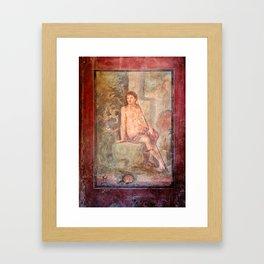 Roman Fesco in Pompei Framed Art Print
