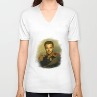 replaceface V-neck T-shirts featuring Leonardo Dicaprio - replaceface by replaceface