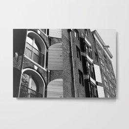 Window Shutter Textures Metal Print