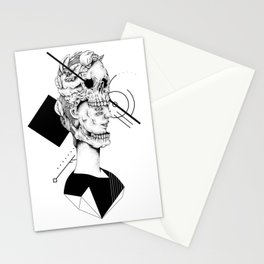Skull and Woman 02 Stationery Cards