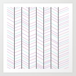 Cotton Candy Stripes Art Print