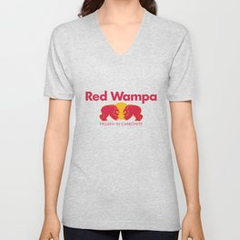 Red Reptomammal Drink - Energy for Space Wizardry Unisex V-Neck