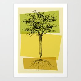 Ideas Don't Grow On Trees Art Print