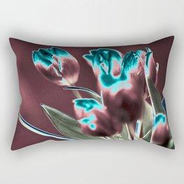 BROWN BLUE TULIPS Rectangular Pillow