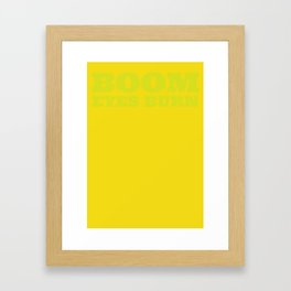 Boom! Framed Art Print