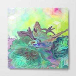 Psychedelic bird Metal Print
