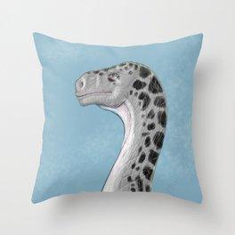 Sauropod Drawing Throw Pillow
