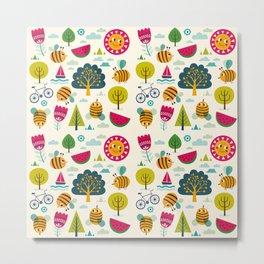Summer and Bees Metal Print