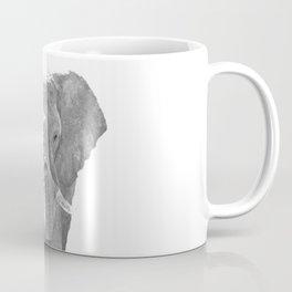 Black and white elephant illustration Coffee Mug