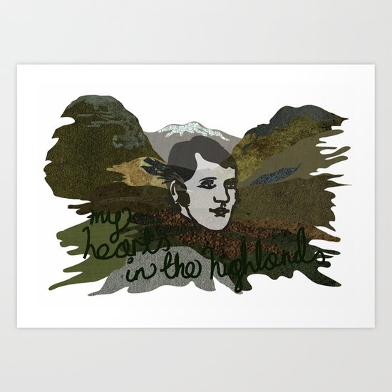 My Heart's in the Highlands Art Print