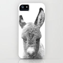 Black and White Baby Donkey iPhone Case