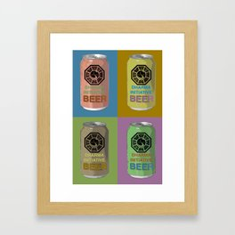 Lost Beer Framed Art Print