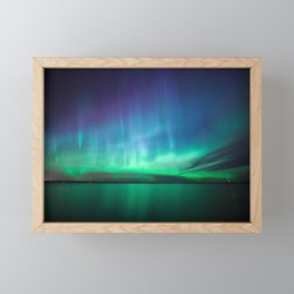 Beautiful northern lights Framed Mini Art Print