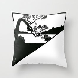 Arbutus and view Throw Pillow