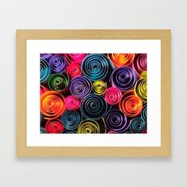 Rolled Color Framed Art Print