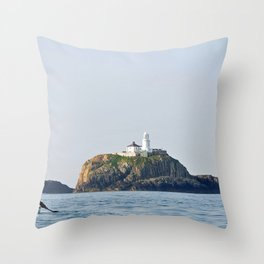bishop rock smallest island archipelago scilly cornwall Throw Pillow
