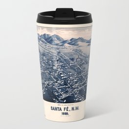 Map Of Santa Fe 1882 Travel Mug
