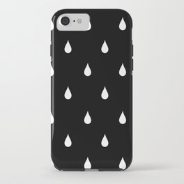 Black and white rain drops iPhone Case