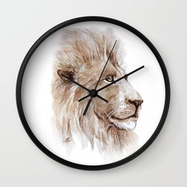 Wise lion Wall Clock