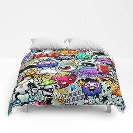 Bizarre Graffiti #1 Comforters