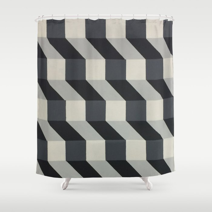 Original Geometric Design by Dominic Joyce Shower Curtain