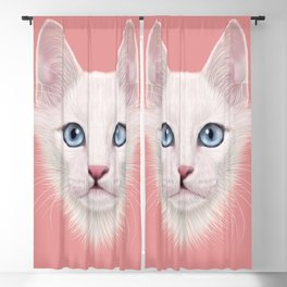 White cat Blackout Curtain