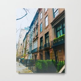 on the street manhattan, new york Metal Print