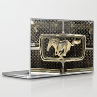 mustang Laptop & iPad Skins featuring Mustang  by Dragons Laire