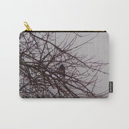 The Raining Blue Jay Carry-All Pouch