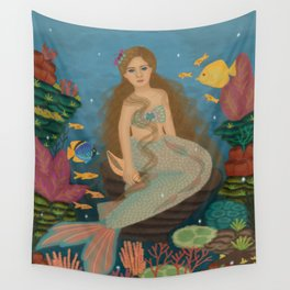 Underwater life Wall Tapestry