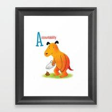 Accountability Framed Art Print
