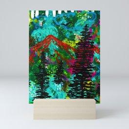 Go Wild - Mountain - Abstract painting Mini Art Print