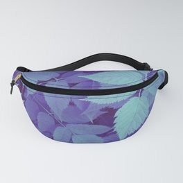 blue fall leaves Fanny Pack